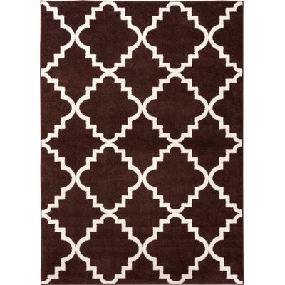 Lewis Lattice Brown Area Rug