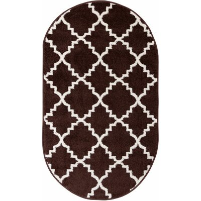 Lewis Lattice Brown Area Rug Rug Size: 53 x 73