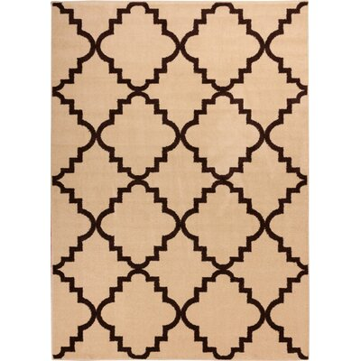 Lewis Lattice Ivory Area Rug Rug Size: 33 x 47