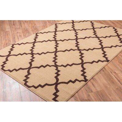Lewis Lattice Ivory Area Rug Rug Size: 53 x 73