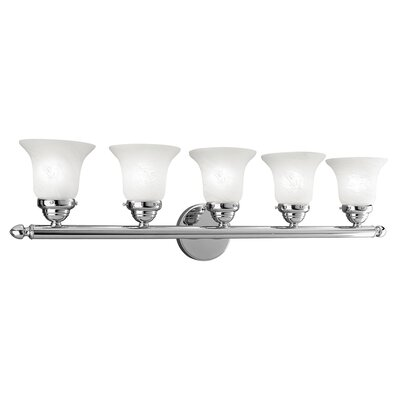 Hardin 5-Light Vanity Light Finish: Chrome
