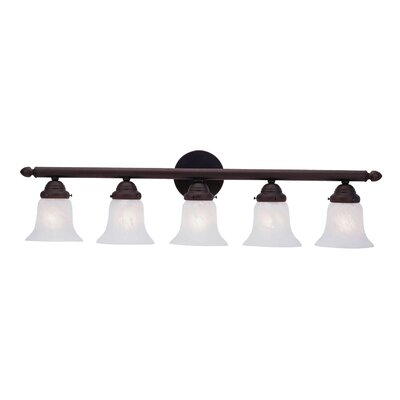 Hardin 5-Light Vanity Light Finish: Bronze