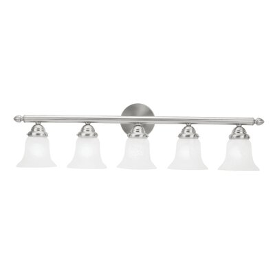 Hardin 5-Light Vanity Light Finish: Brushed nickel