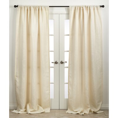 Ezra Single Curtain Panel Color: Ivory