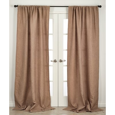 Ezra Single Curtain Panel Color: Natural