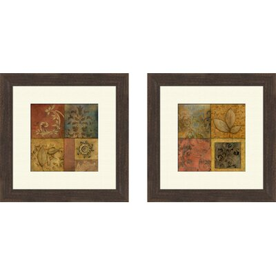 Organic Montage 2 Piece Framed Painting Print Set