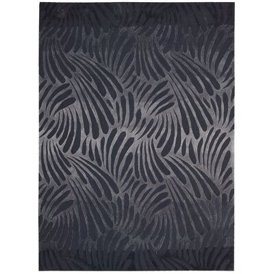 Irina Hand-Tufted Charcoal Area Rug Rug Size: Rectangle 73 x 93
