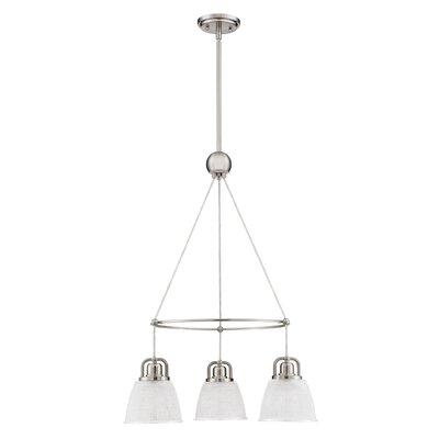 Hamlett 3-Light Cluster Pendant Finish: Brushed Nickel