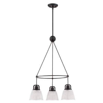 Hamlett 3-Light Cluster Pendant Finish: Mystic Black