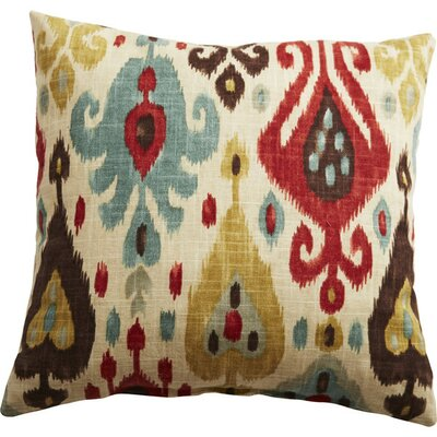 George Linen Throw Pillow Color: Persian