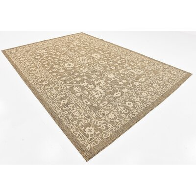 Kivett Brown Outdoor Area Rug Rug Size: Rectangle 7 x 10