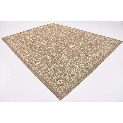 Kivett Brown Outdoor Area Rug Rug Size: Rectangle 9 x 12