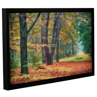 Autumn Light Framed Graphic Art on Wrapped Canvas
