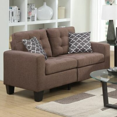 Bateson Loveseat Color: Beige