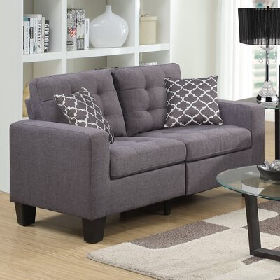 Bateson Loveseat Color: Gray