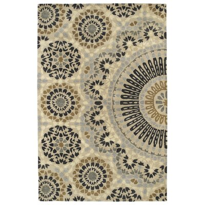 Bergland Hand Tufted Beige/Gray Area Rug Rug Size: Rectangle 36 x 56