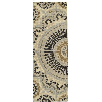 Bergland Hand Tufted Beige/Gray Area Rug Rug Size: Runner 26 x 8