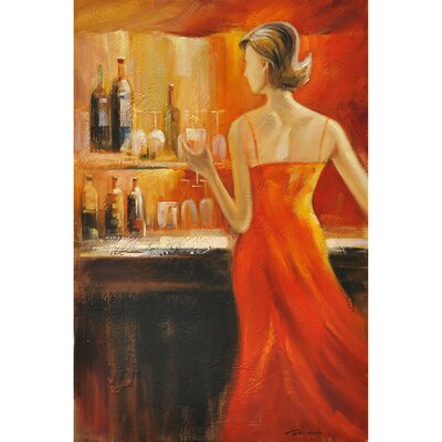 Lady's Night II Original Painting on Wrapped Canvas