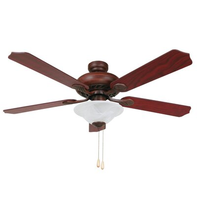 52 Hanrahan 5-Blade Ceiling Fan Finish: Dark Brown