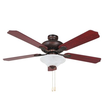 52 Hanrahan 5-Blade Ceiling Fan Finish: Oil Rubbed Bronze