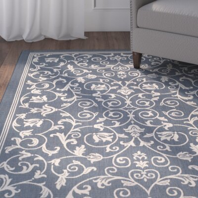 Bexton Navy & Beige Outdoor/Indoor Area Rug II