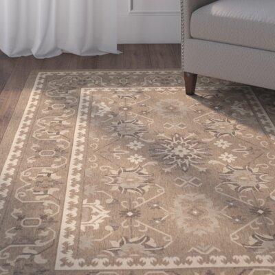 Bacall Brown / Creme Indoor / Outdoor Area Rug
