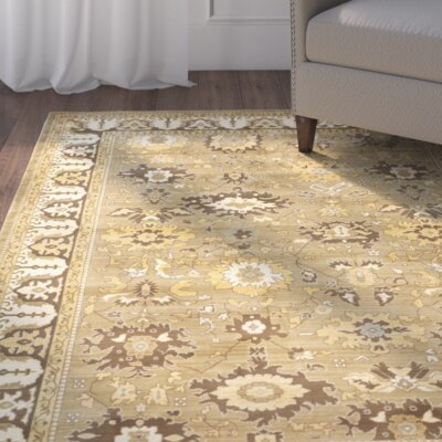 Dunbar Green/Brown Rug Rug Size: Rectangle 26 x 4