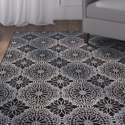 Eagleview Black Area Rug Rug Size: Runner 210 x 710
