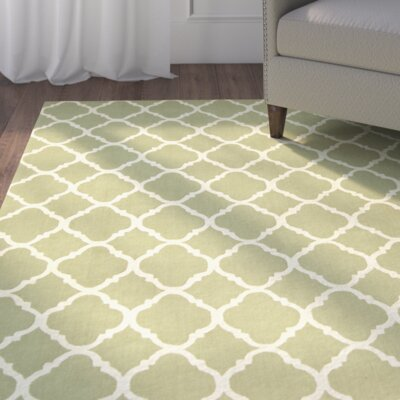 Fullerton Green/Ivory Geometric Area Rug Rug Size: Rectangle 56 x 86