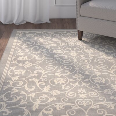Bexton Grey / Natural Indoor/Outdoor Rug Rug Size: Runner 24 x 67