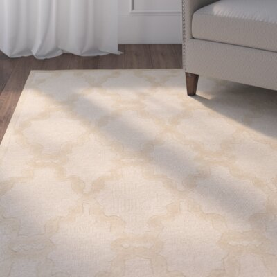 Cabbott Natural Rug Rug Size: 33 x 53