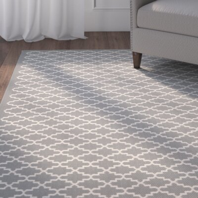 Bexton Anthracite / Beige Indoor/Outdoor Rug Rug Size: 67 x 96