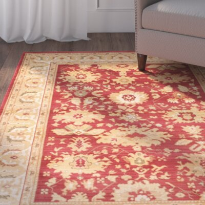 Dunbar Red/Cr�me Rug Rug Size: Rectangle 96 x 13