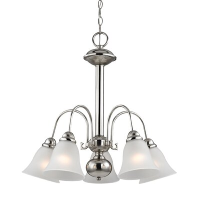 Allendale 5-Light Shaded Chandelier Finish: Brushed Nickel