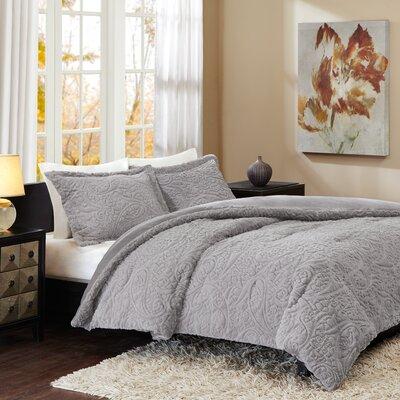 Moerlein Comforter Set Size: Full / Queen, Color: Gray