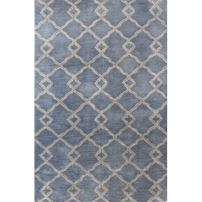 Hirsch Hand-Tufted Denim Area Rug Rug Size: 39 x 59