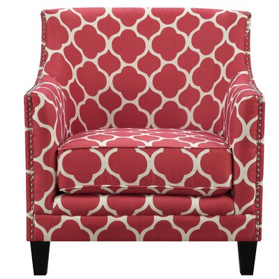 Bailes Arm Chair Upholstery: Red