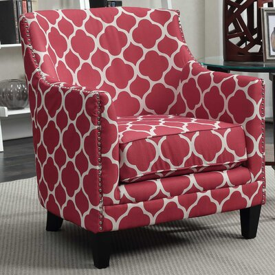 Bailes Armchair Upholstery: Red