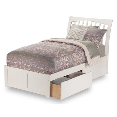 Homer Storage Platform Bed Size: Full, Color: White
