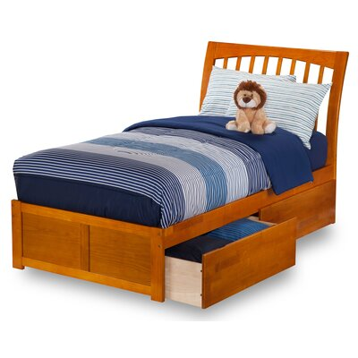 Homer Storage Platform Bed Finish: Caramel Latte, Size: Twin
