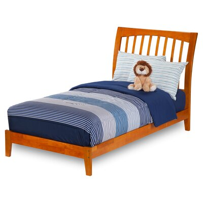Homer Platform Bed Size: Twin XL, Finish: Caramel Latte