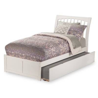 Homer Storage Sleigh Bed Size: Twin, Finish: White
