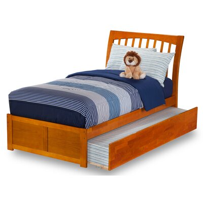 Homer Sleigh Bed Size: Twin, Finish: Caramel Latte