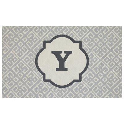 Stroupe Monogram Kitchen Mat Letter: Y