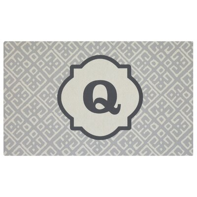Stroupe Monogram Kitchen Mat Letter: Q