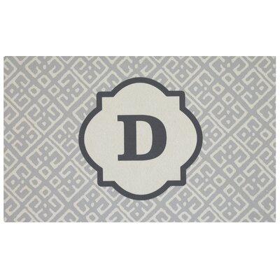 Stroupe Monogram Kitchen Mat Letter: D