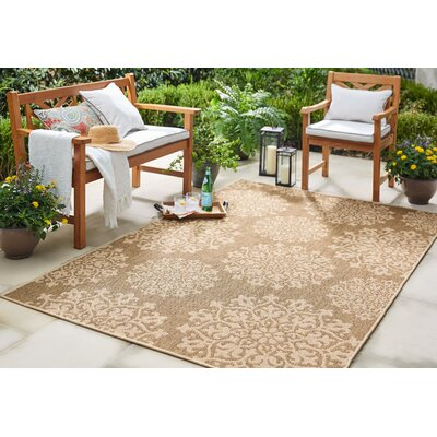 Barker Natural Indoor/Outdoor Area Rug Rug Size: 53 x 76