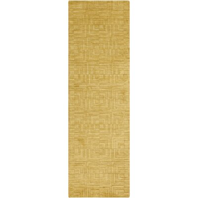 Gallaher Citrine Area Rug Rug Size: Runner 26 x 8