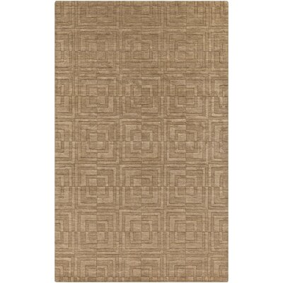 Gallaher Raw Umber Area Rug Rug Size: Rectangle 33 x 53