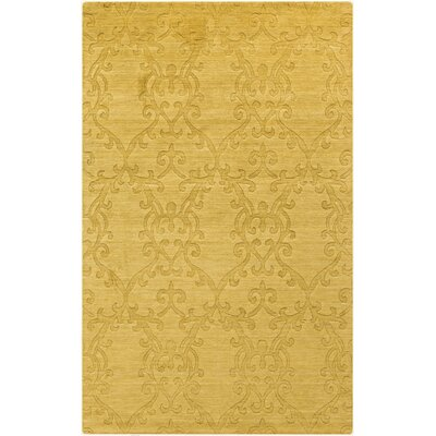 Gallaher Split Pea Yellow Area Rug Rug Size: 33 x 53